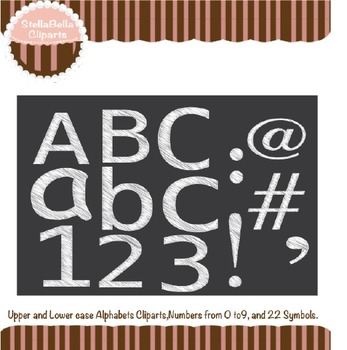 Alphabet Clipart- Scribble Style in White