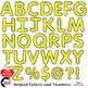 Alphabet Clipart, Striped Letters and Numbers and Symbols in Yellow AMB-2432-2