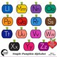 Alphabet Clipart, Word Wall Tags Clipart, Color and Blackline Versions, AMB-2244