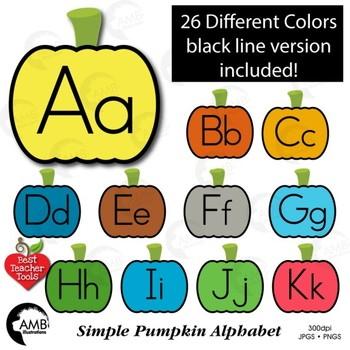 Alphabet Clipart Word Wall Tags Color And Blackline Versions AMB 2244