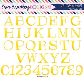 Alphabet Clipart - Yellow