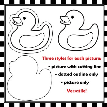 Alphabet Clipart with Cutting Lines | Clip Art for Teachers