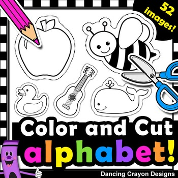 Alphabet Clipart with Cutting Lines