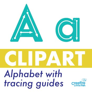 Alphabet Clipart with Tracing Guides