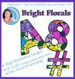 Alphabet ClipartBulletin Board Letter Set Bright Florals