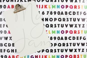Alphabet Clipboard Styled Images for Teacherpreneurs