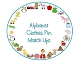 Alphabet Clothes Pin Match Up
