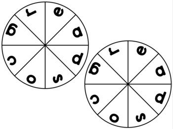 Alphabet Clothespin Wheel - Editable