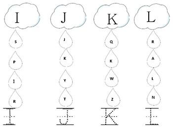 Alphabet Cloud Letters