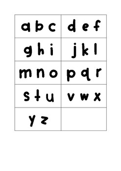 Alphabet Cluster Sort Cards
