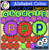 Alphabet Coins Clipart Lowercase