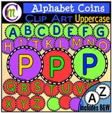 Alphabet Coins Clipart Uppercase