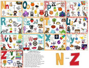Alphabet Collage Posters