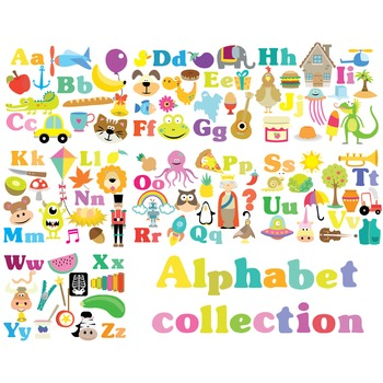 Alphabet Collection Clipart & Vector Set - Instant Downloa