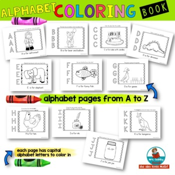 Alphabet Color Book for Preschoolers - Learn the ABC's