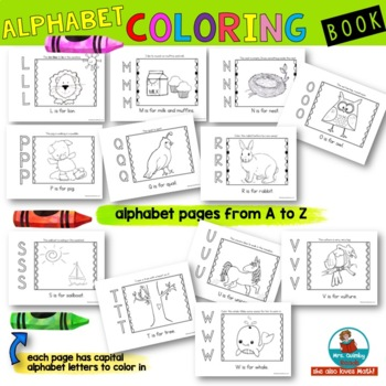 Alphabet Color Book - Learn the ABC's - [Learning the Alphabet]