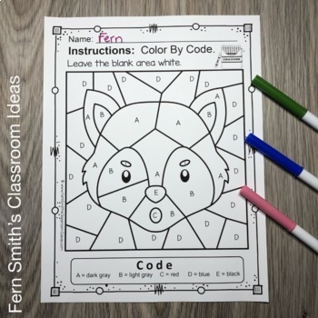 Alphabet Color By Code with The Three Little Pigs For Struggling Kindergartners