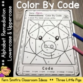 Alphabet Color By Code with The Three Little Pigs For Stru