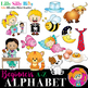 Alphabet - Beginners 1. A - Z pictures with short words {Lilly Silly Billy}