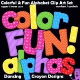 Colorful Fun Alphabet Letters | Alphabet Clip Art BUNDLE