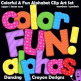 Bulletin Board Letter Set | Color Fun Alphabet Clip Art BUNDLE