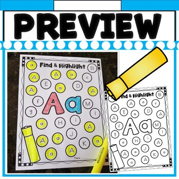Alphabet Color, Find, and Highlight! (26 Printables Included)