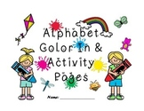 Alphabet Color In & Activity Pages