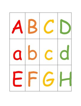 Alphabet Color Matching Cards