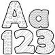 Alphabet Letters for Coloring - Black and White Alphabet Clip Art