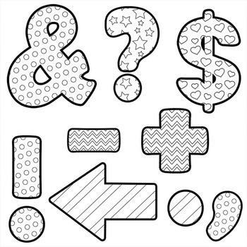 Alphabet Letters for Coloring - Black and White Alphabet Clip Art