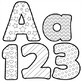 Alphabet Letters for Coloring - Black and White Alphabet Coloring Clip Art