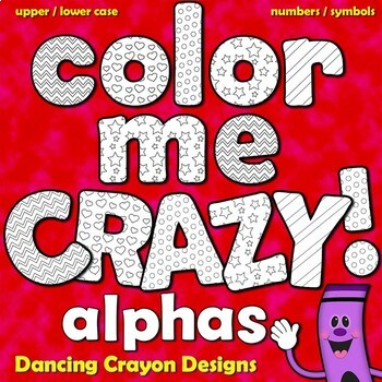 Alphabet Letters for Coloring - Black and White