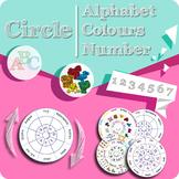 Alphabet Color Number CIRCLE