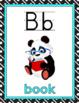 CLASSROOM DECOR: Alphabet Posters, Color Posters, Aqua & Black Theme