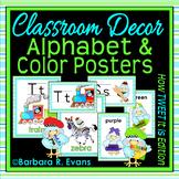ALPHABET + COLOR POSTERS Letter Associations TWEET Bird Th