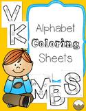 Alphabet Color Sheets- No Prep!