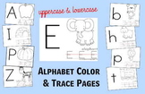 Alphabet Color & Trace Sheets - Preschool / Kindergarten