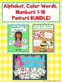 Alphabet, Color Words, & Numbers 1-10 Anchor Charts BUNDLE!