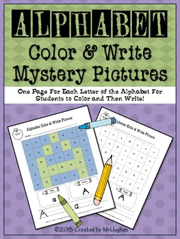 Alphabet Color & Write Mystery Pictures