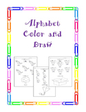 Alphabet Color and Draw