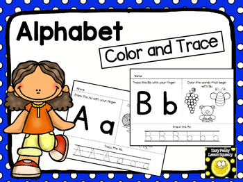 Alphabet Color and Trace