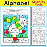 Color by Letters of the Alphabet Polar Bear - Letter Recognition Winter Activity