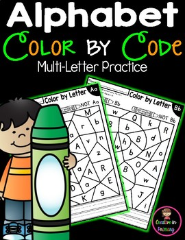 Alphabet Color by Code - Alphabet Mystery Picture