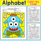 Color by Letters of the Alphabet Monster Activity - Letter Recognition Worksheet