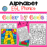 ESL Phonics Alphabet Color by Code Words & Pictures