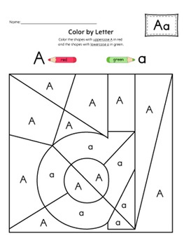 Alphabet Color-by-Letter Activity Set {UPPERCASE + LOWERCASE}