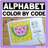 Alphabet Letters Color by Number Worksheets