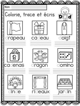 Alphabet-Color, Trace and Write/ Alphabet- Colorie, trace et écris