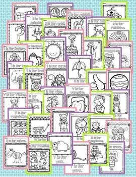 Alphabet Coloring Book - Beginning Sounds for Preschool and Kindergarten RF.K.2d