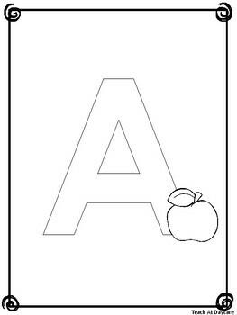 Alphabet Coloring Book. Preschool-KDG Literacy and Phonics.